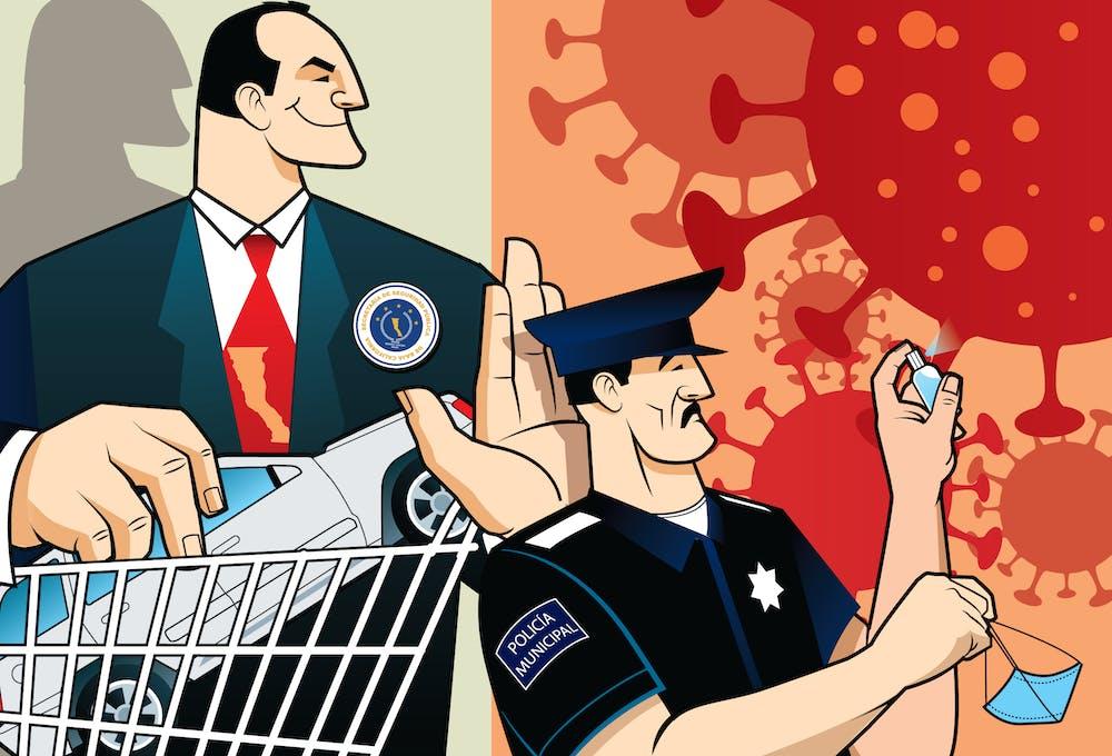 Pandemia, compras por la polciía de Tijuana
