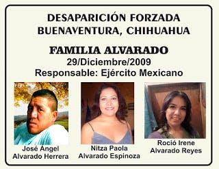Caso Alvarado, desaparición forzada, Chihuahua, Felipe Calderón