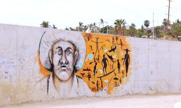 A través del arte activistas buscan detener la construcción del muro en arroyo Costa Azul