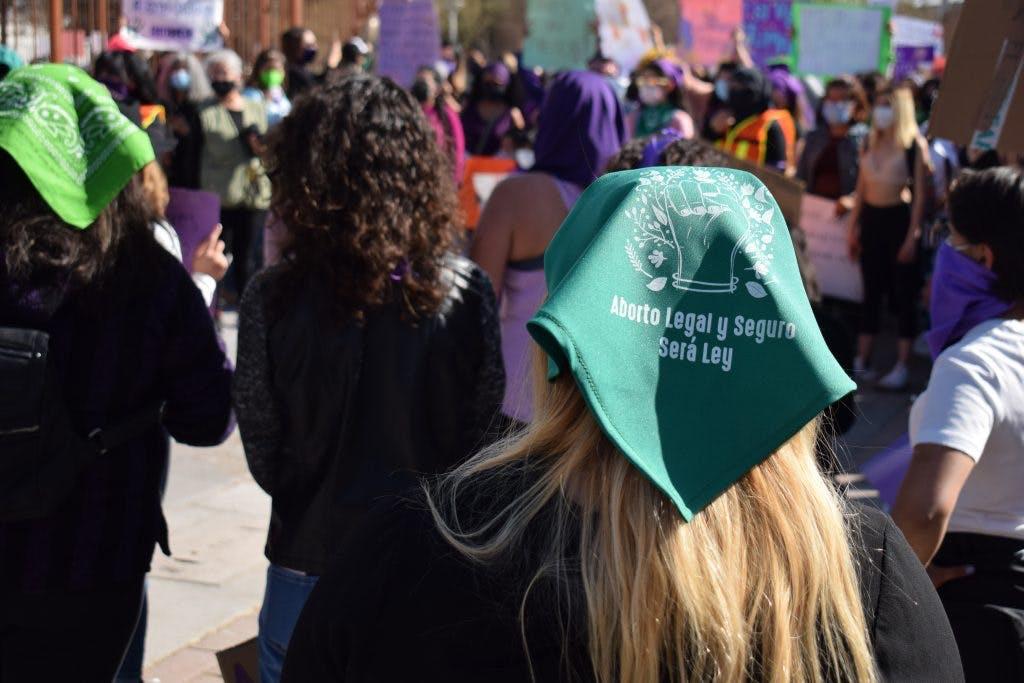 Marcha el día Internacional de mujer en Ciudad Juárez.