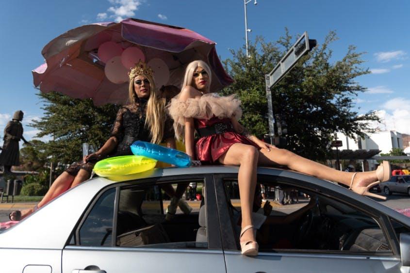 Marcha del orgullo gay en Chihuahua.