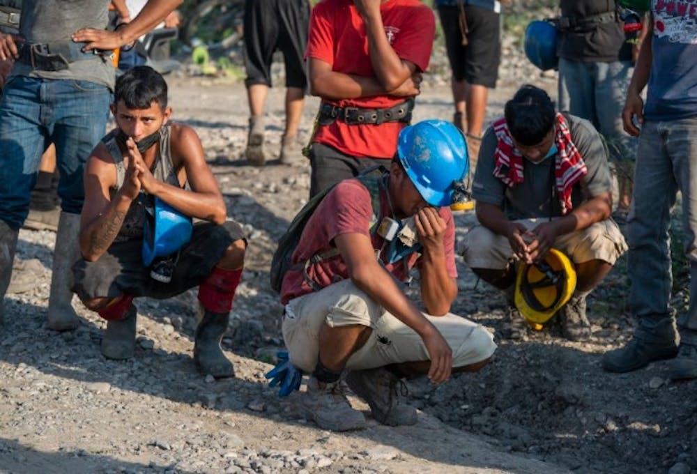 Mineros en la Mina Micarán, en Múzquiz, Coahuila.