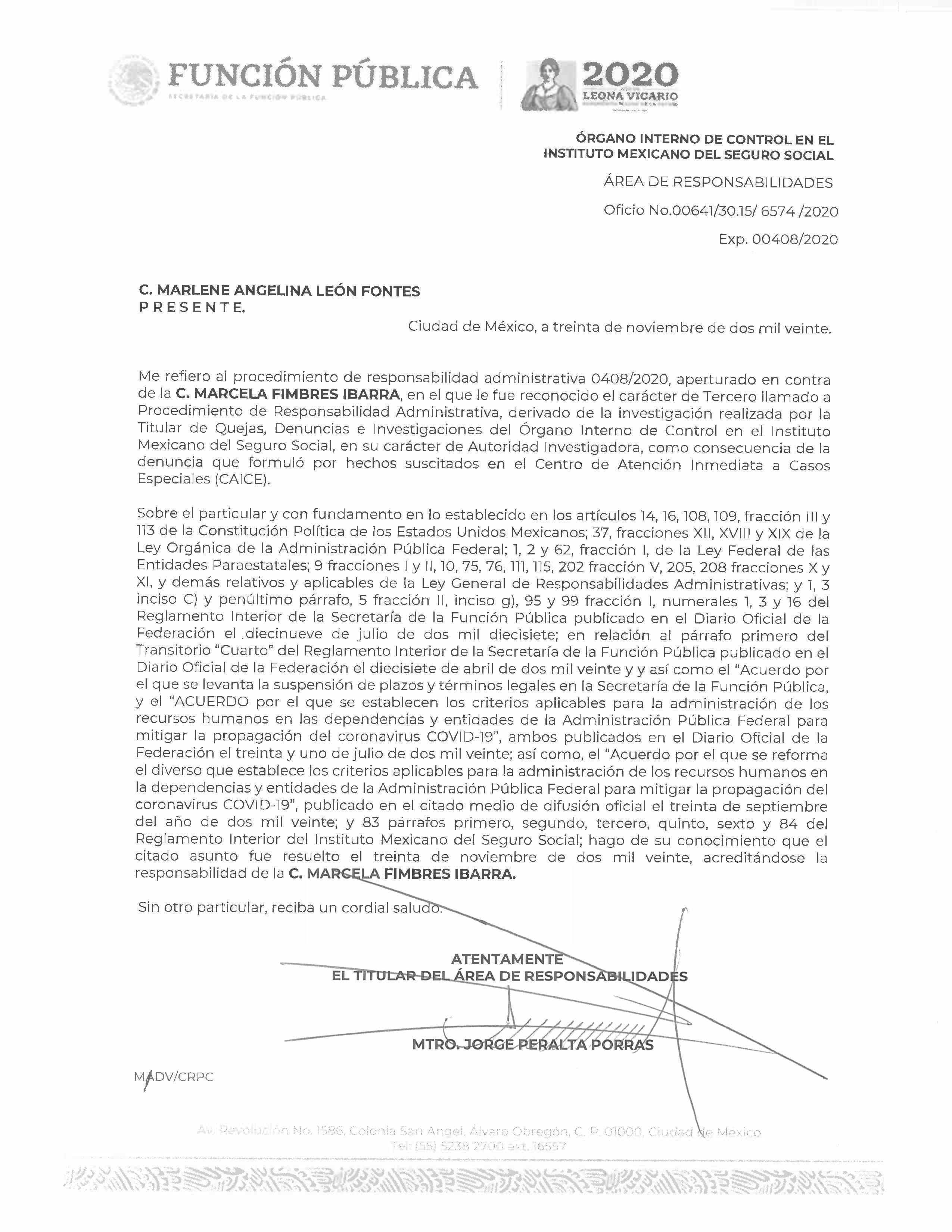 Marcela Fimbres Ibarra fue inhabilitada por 12 años por corrupción.