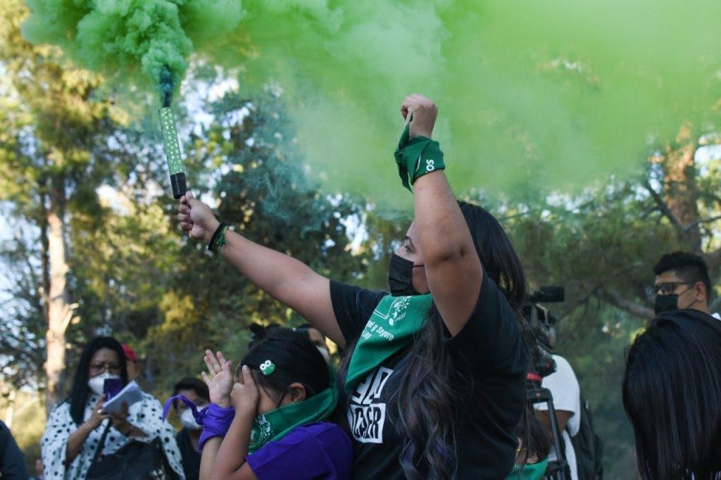 Protesta contra la penalización del aborto en Juárez.