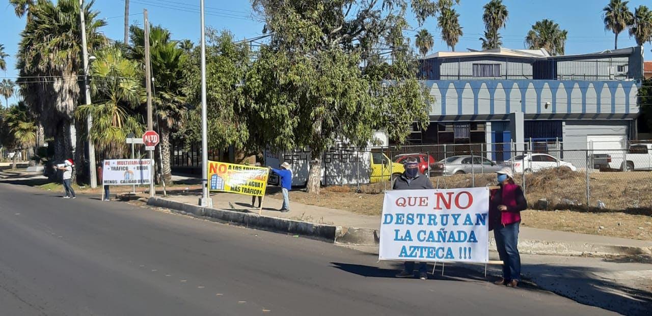 Protestas, Playas de Tijuana, Cañada Azteca, desarrollos inmobiliarios