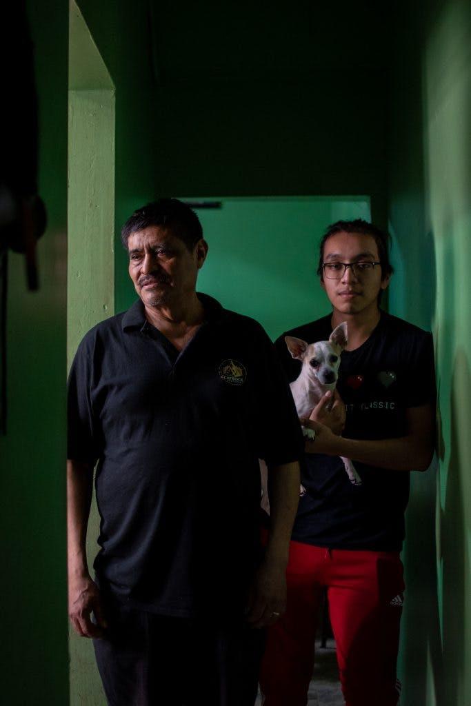 Antonio Romero y su hijo Reyen Nueva York.