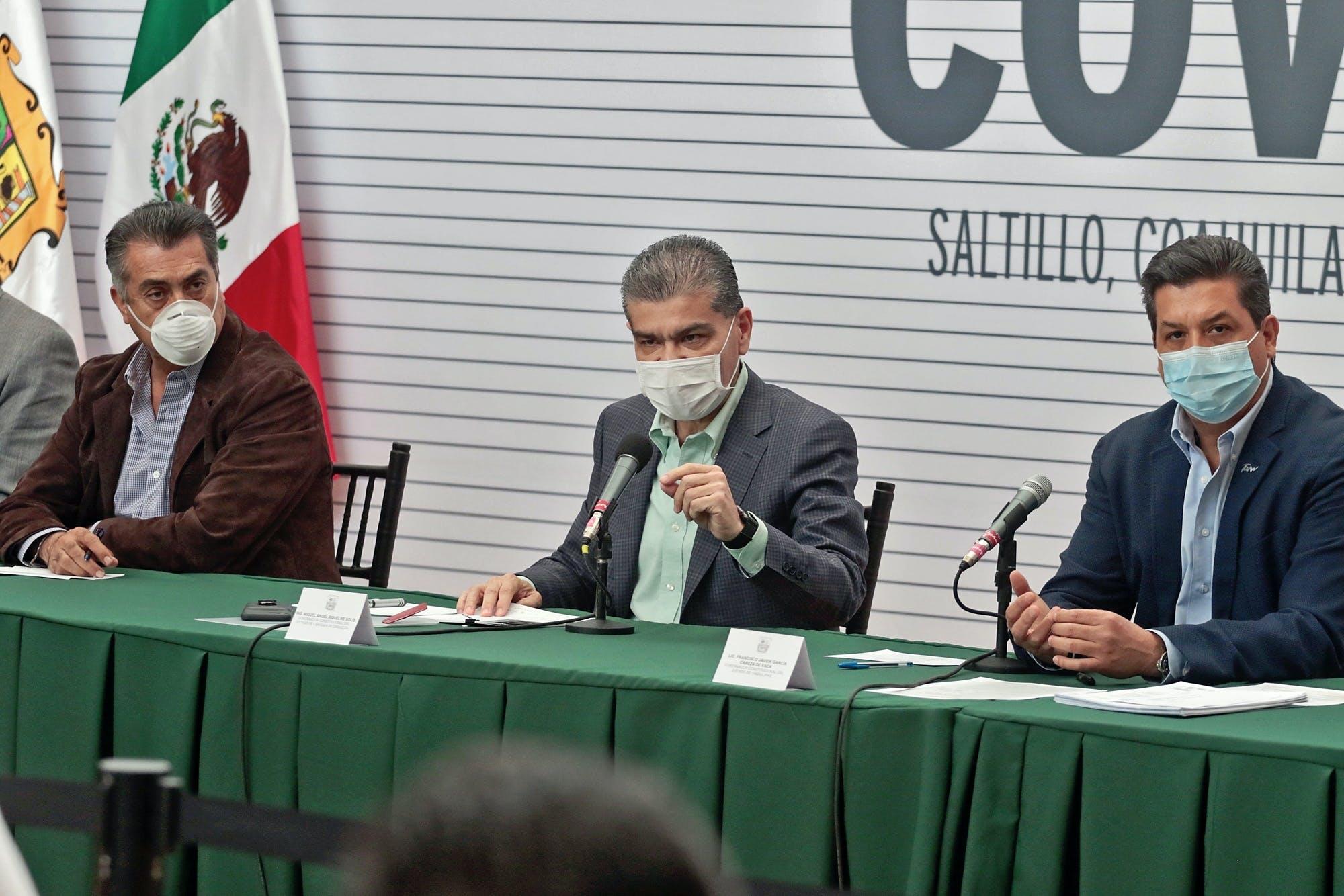 Gobernadores de Nuevo León, Coahuila y Tamaulipas.