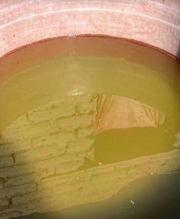 Agua contaminada