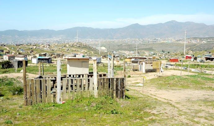 El Aguajito, terreno invadido en Baja California