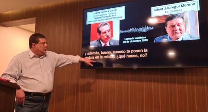 Jauregui, MAru, Corral, exsecretario de hacienda, César Duarte, Chihuahua