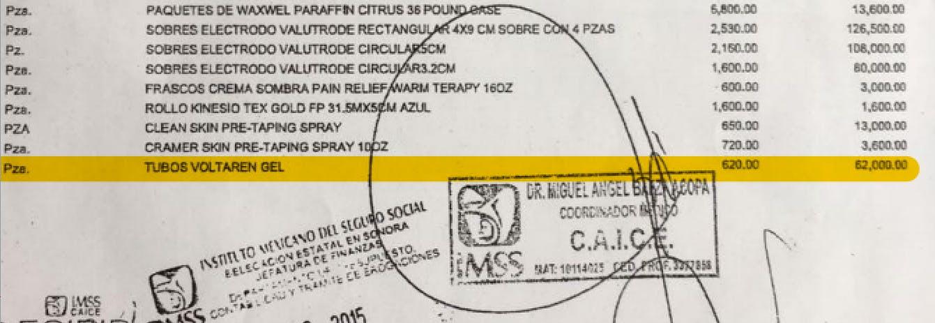 Una factura en la que se aprecia el precio del tubo de Voltaren en 620 pesos.