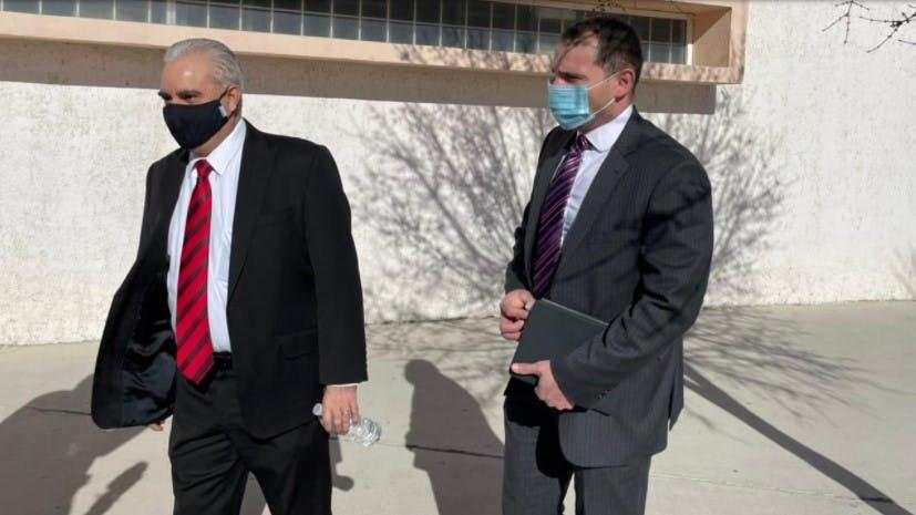 Maclovio Murillo, al arribar a Ciudad Judicial, en Ciudad Juarez