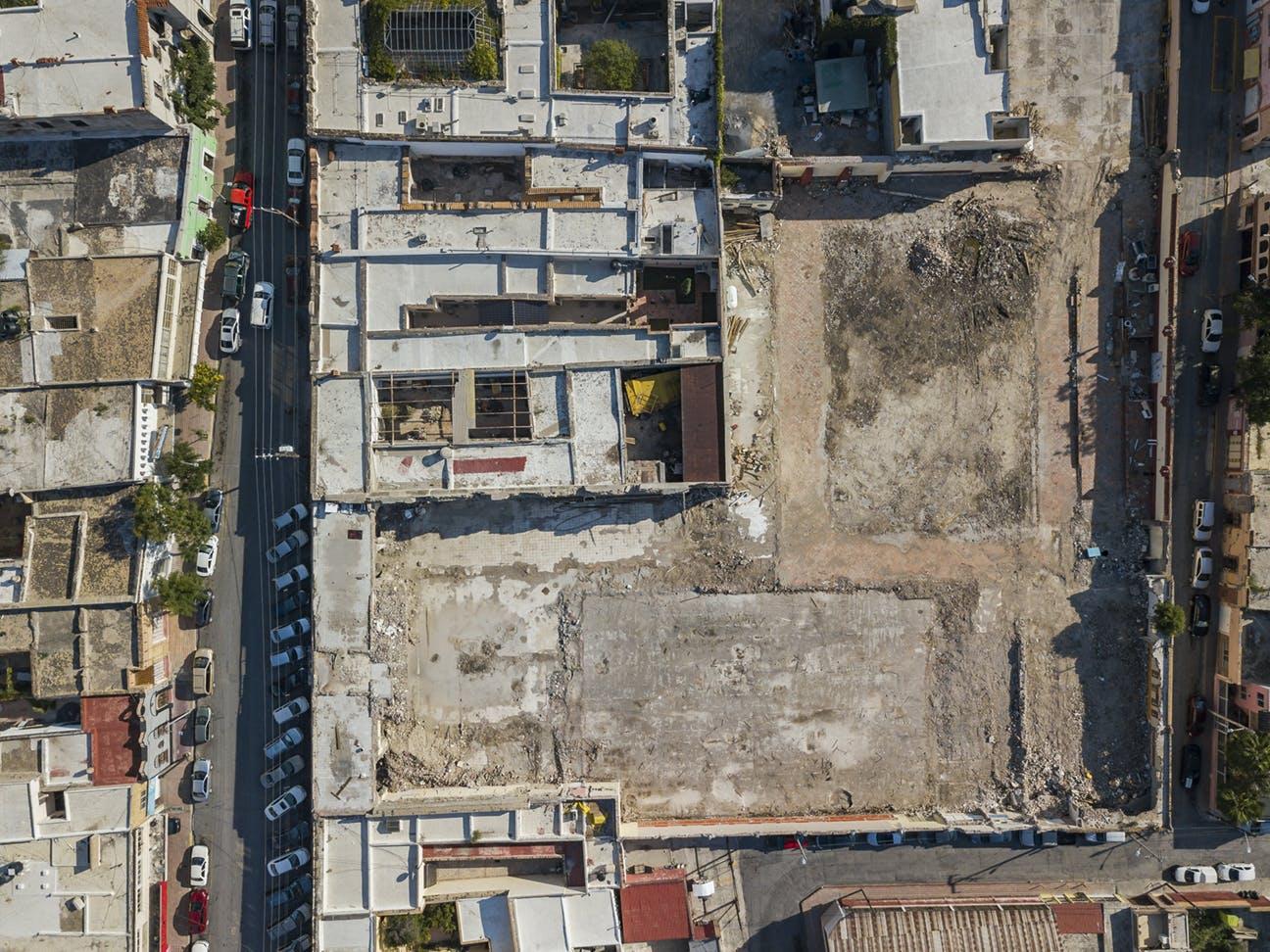 Vista aérea del edificio de la SMA.