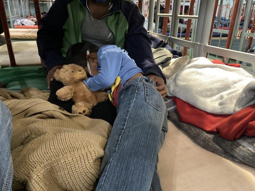 Niños migrantes en albergue de Ciudad Juárez.