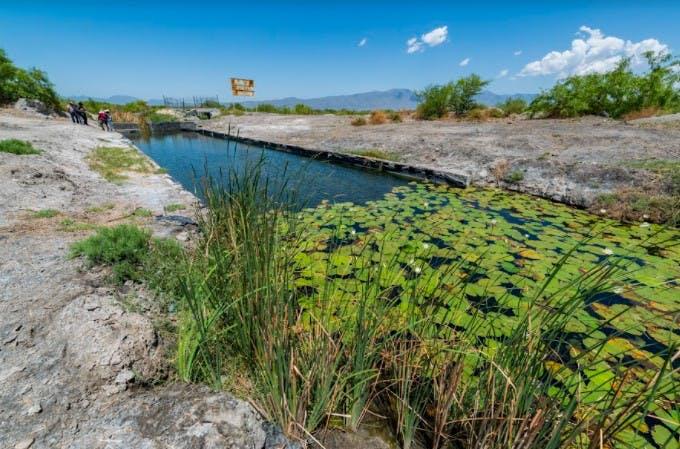 Poza Artificial cerca del ejido Minero Viejo.