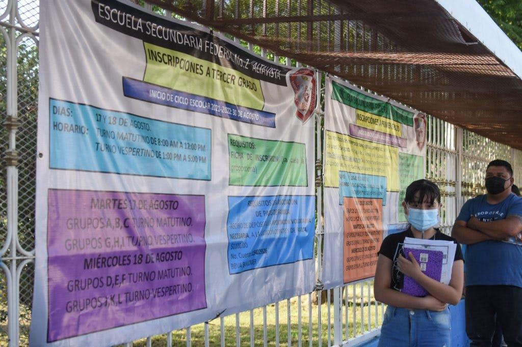 Inscripciones en Chihuahua durante la pandemia.