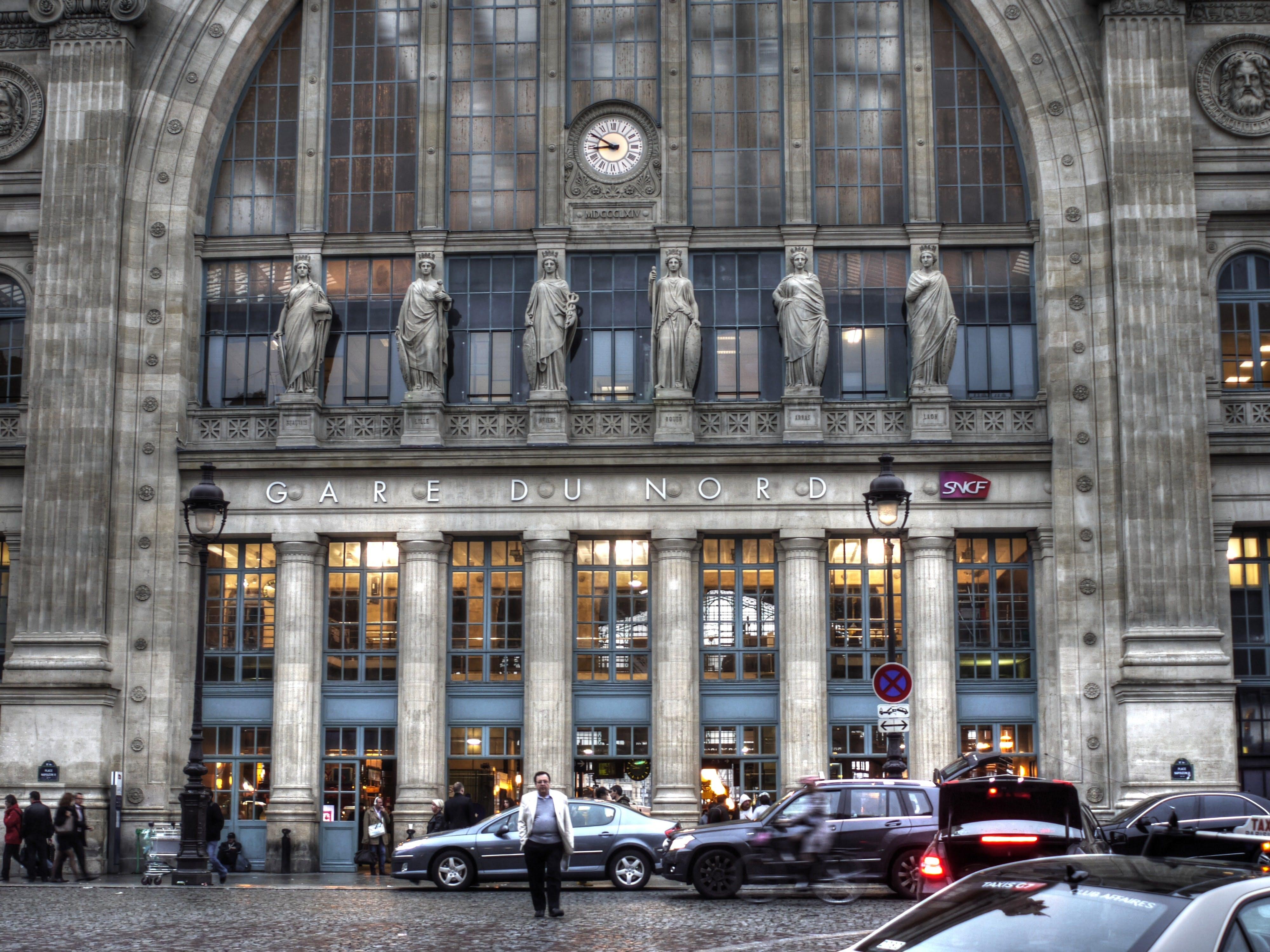 Entrance to Gare du Nord station, Paris
