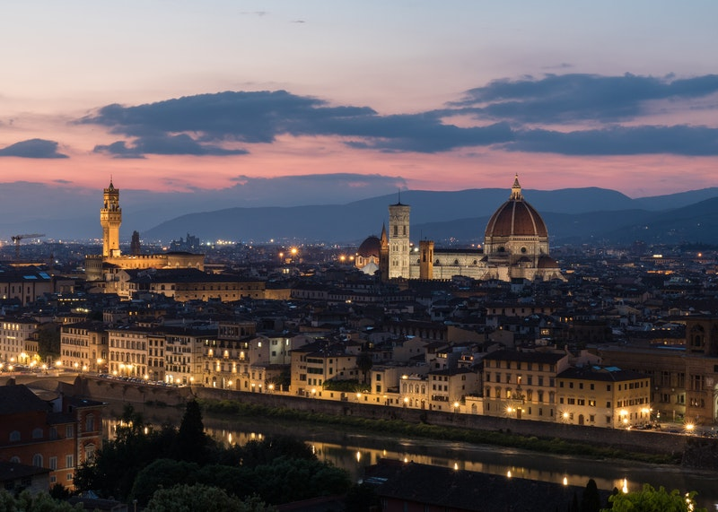 Florence skyline at night