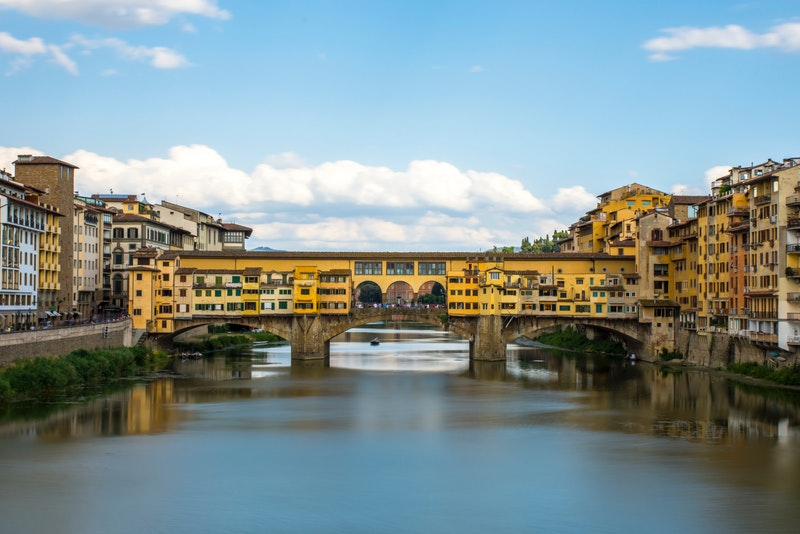 Ponte Vecciho bridge in Florence, Italy