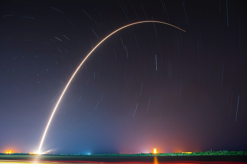 Rocket launch at Kennedy Space Center, USA