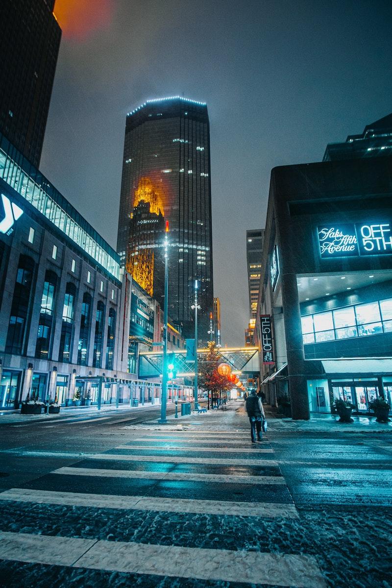 Minneapolis skyline at night