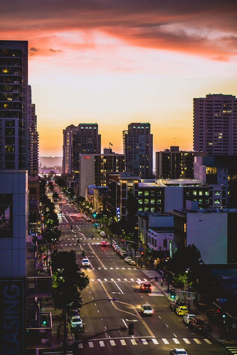 view of street in San Diego