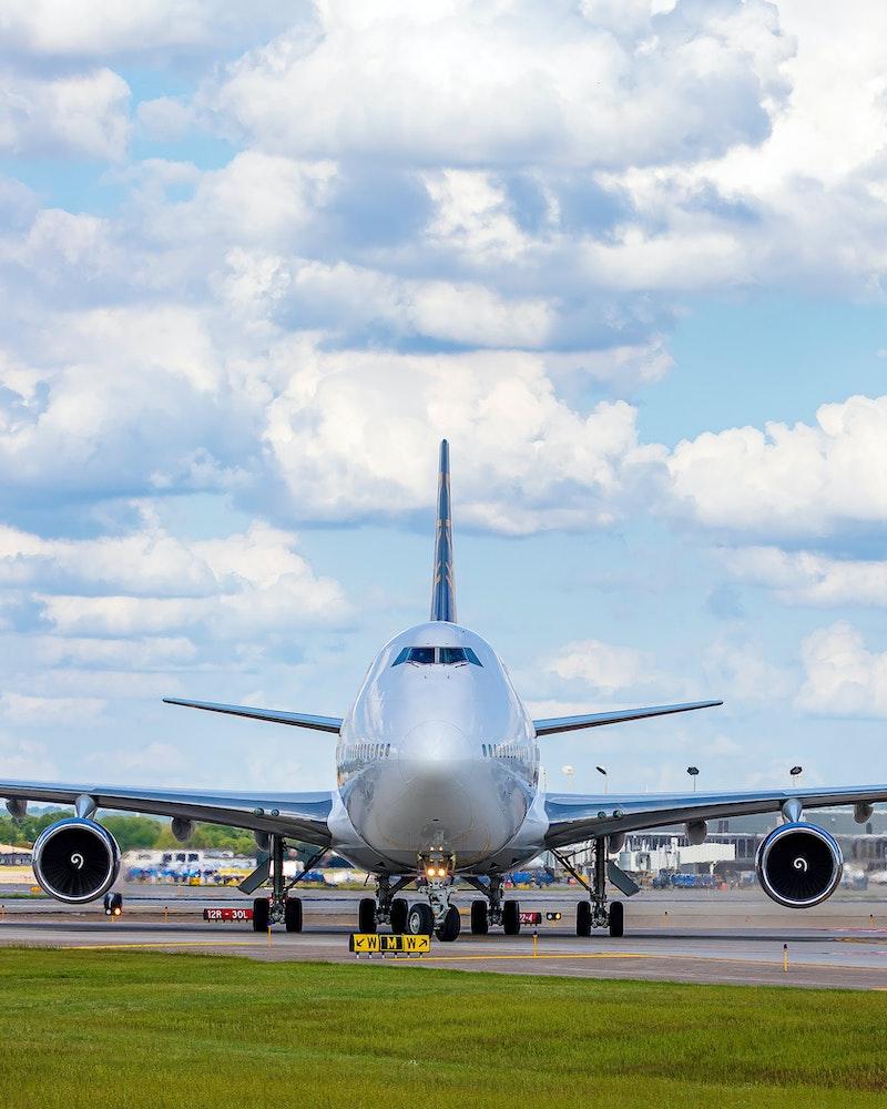 Plane on runway at Minneapolis Airport, Minneapolis
