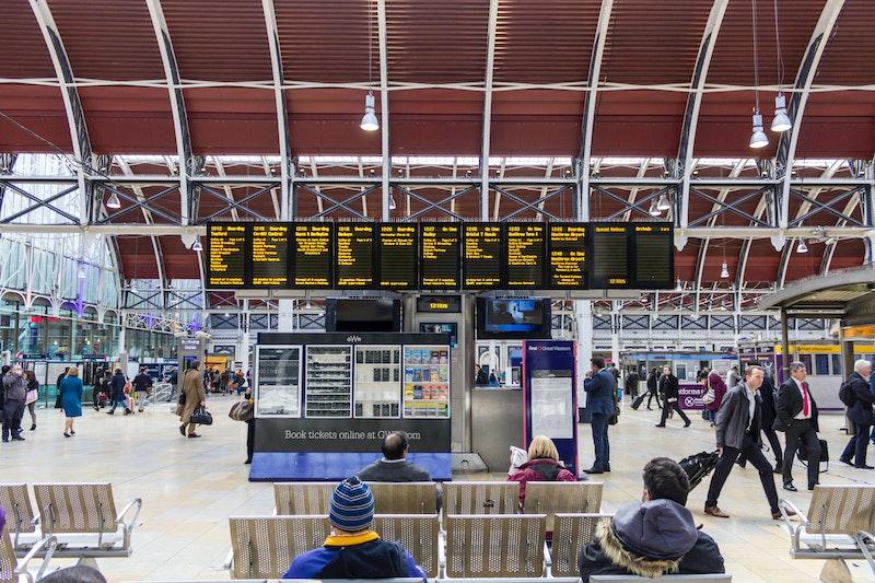 Arrivals board, Paddington Station, London