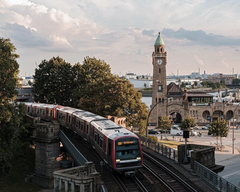 Train line in Hamburg, Germany