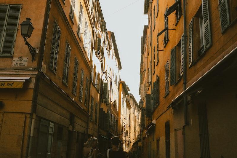 Old Street in Nice, France
