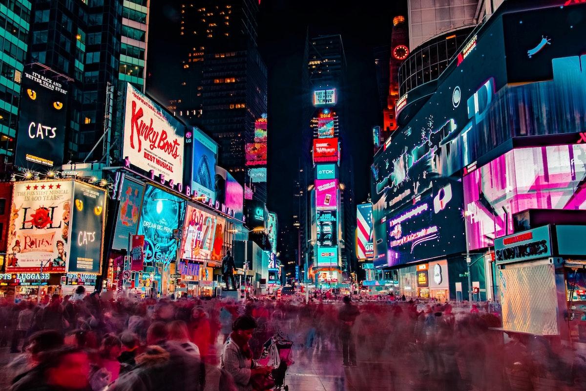 Gepäckaufbewahrung in Times Square