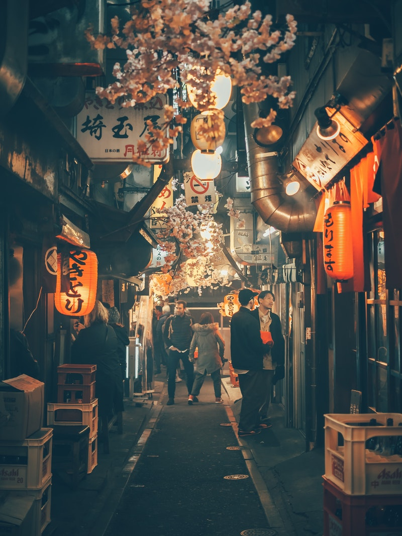 Tokyo alley at night