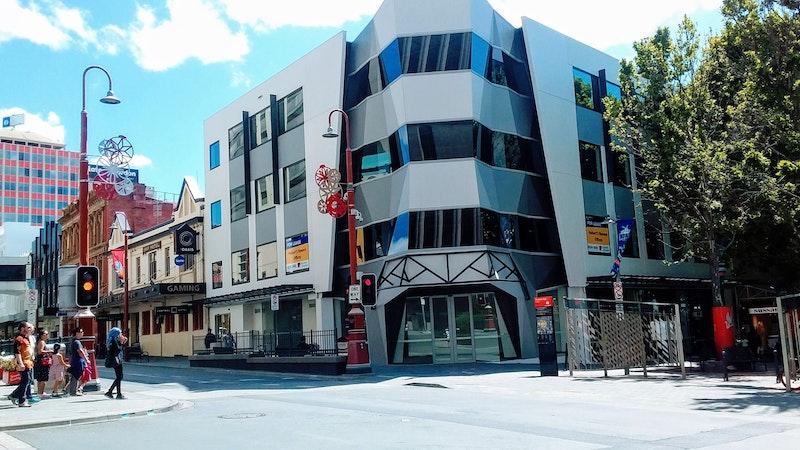 city buildings in Hobart