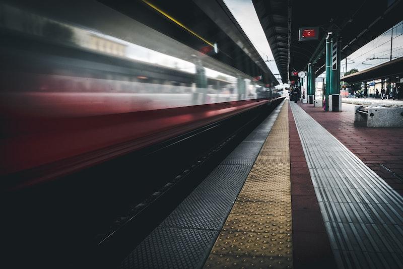 Train platform, Florence train station, Italy
