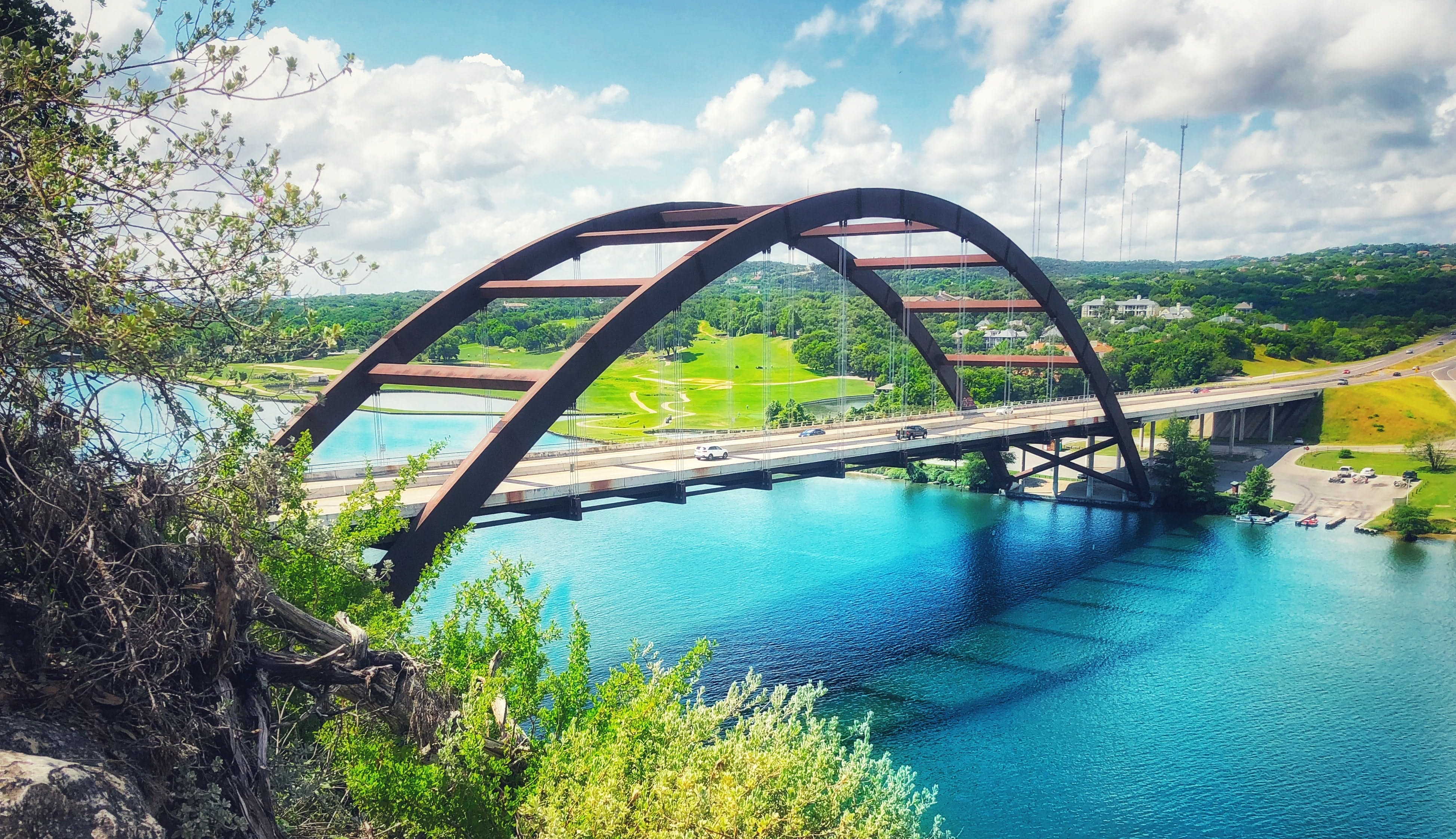 bridge over lake in Austin