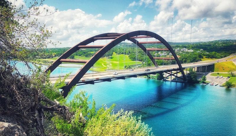 bridge over lake in Austin