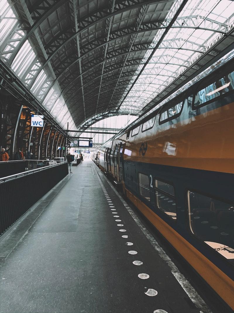 Platform at Amsterdam Centraal Station
