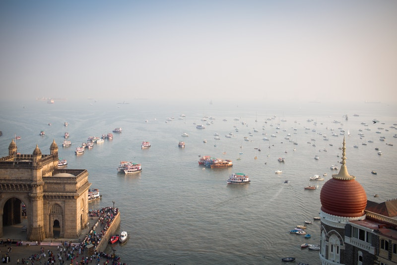 overlooking Gateway of India and the sea