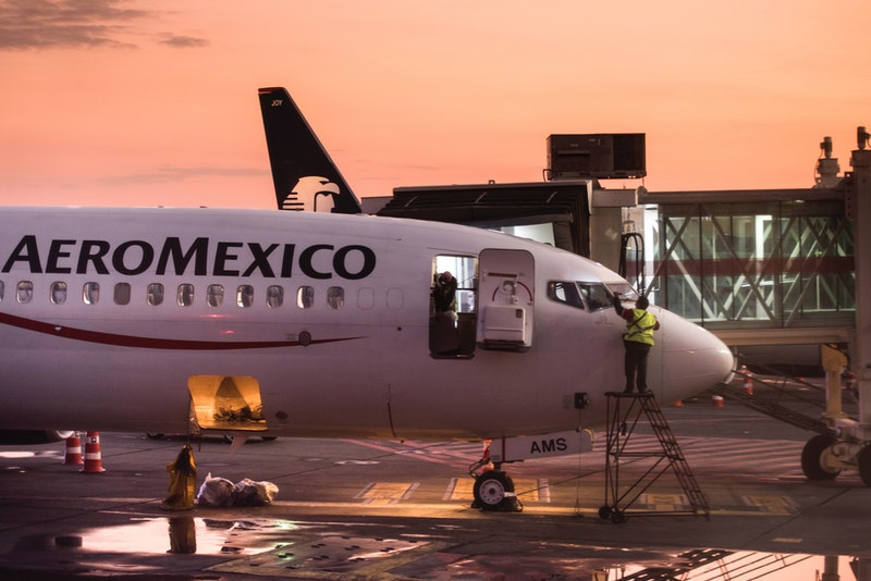 Plane at Mexico City Airport, Mexico