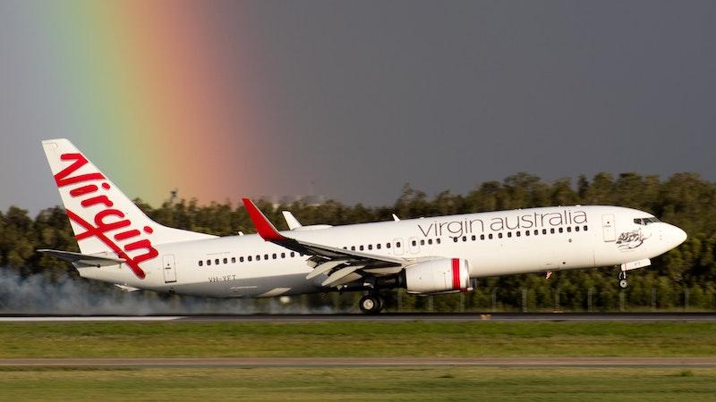 Plane at Brisbane Airport, Australia