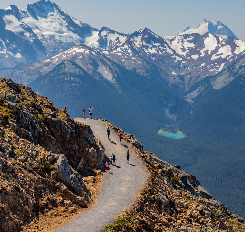 Mountain Trail in Whistler, BC, Canada
