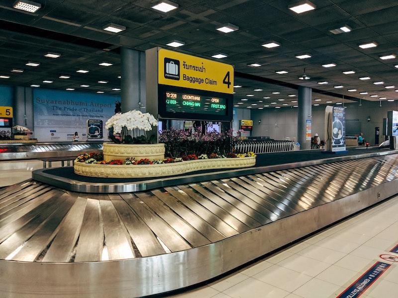 Baggage carousel in Bangkok Airport, Thailand