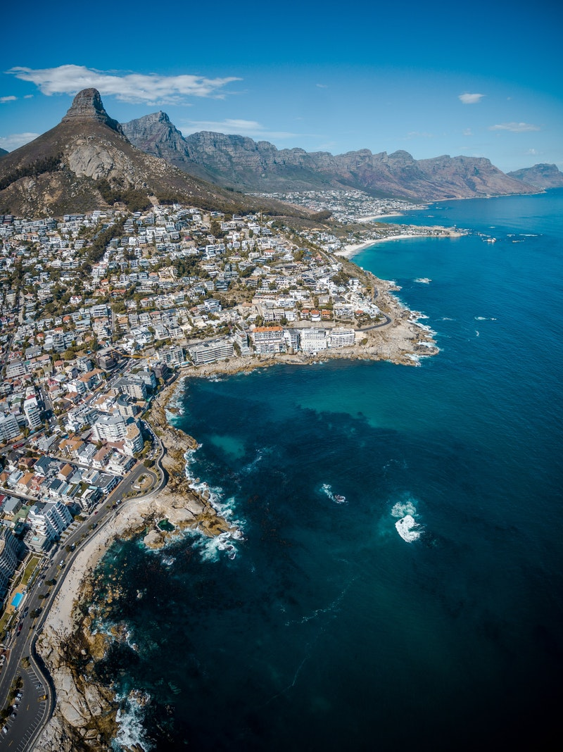 Coastline of Cape Town, South Africa