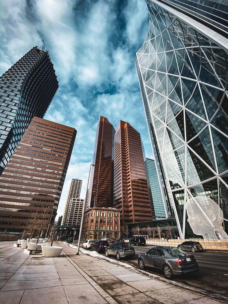Modern skyscrapers, Calgary, Alberta