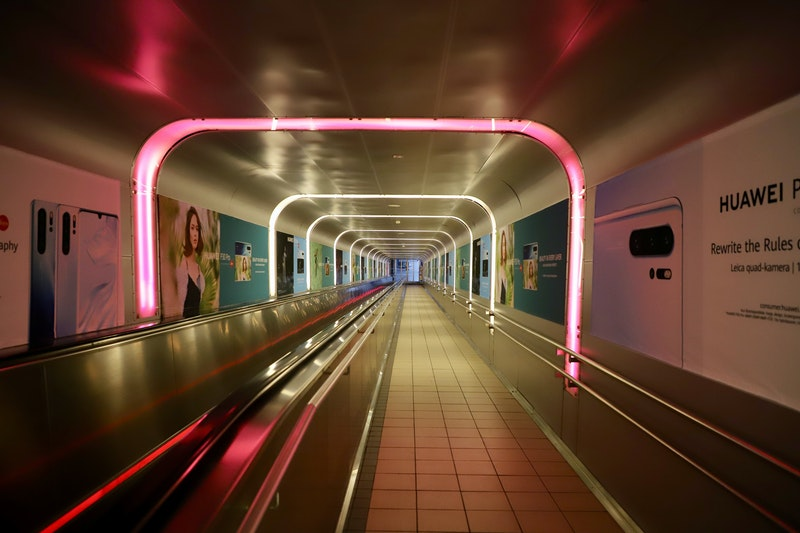 Train tunnel at Oslo Central Station, Norway