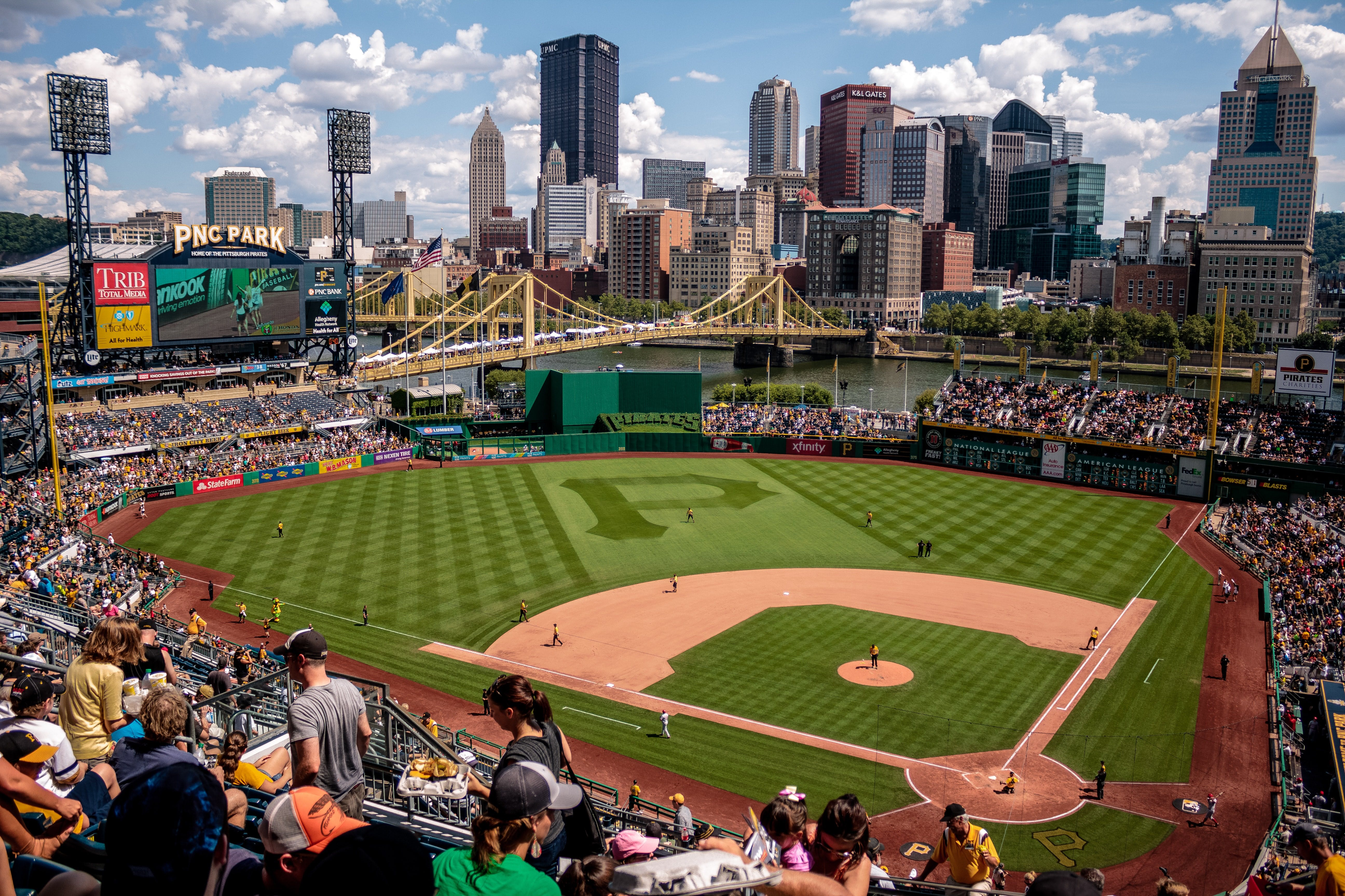 baseball game at PNC Park in Pittsburgh