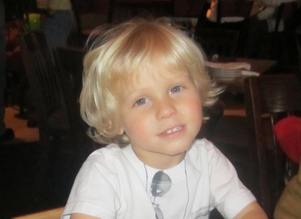 Little blond boy