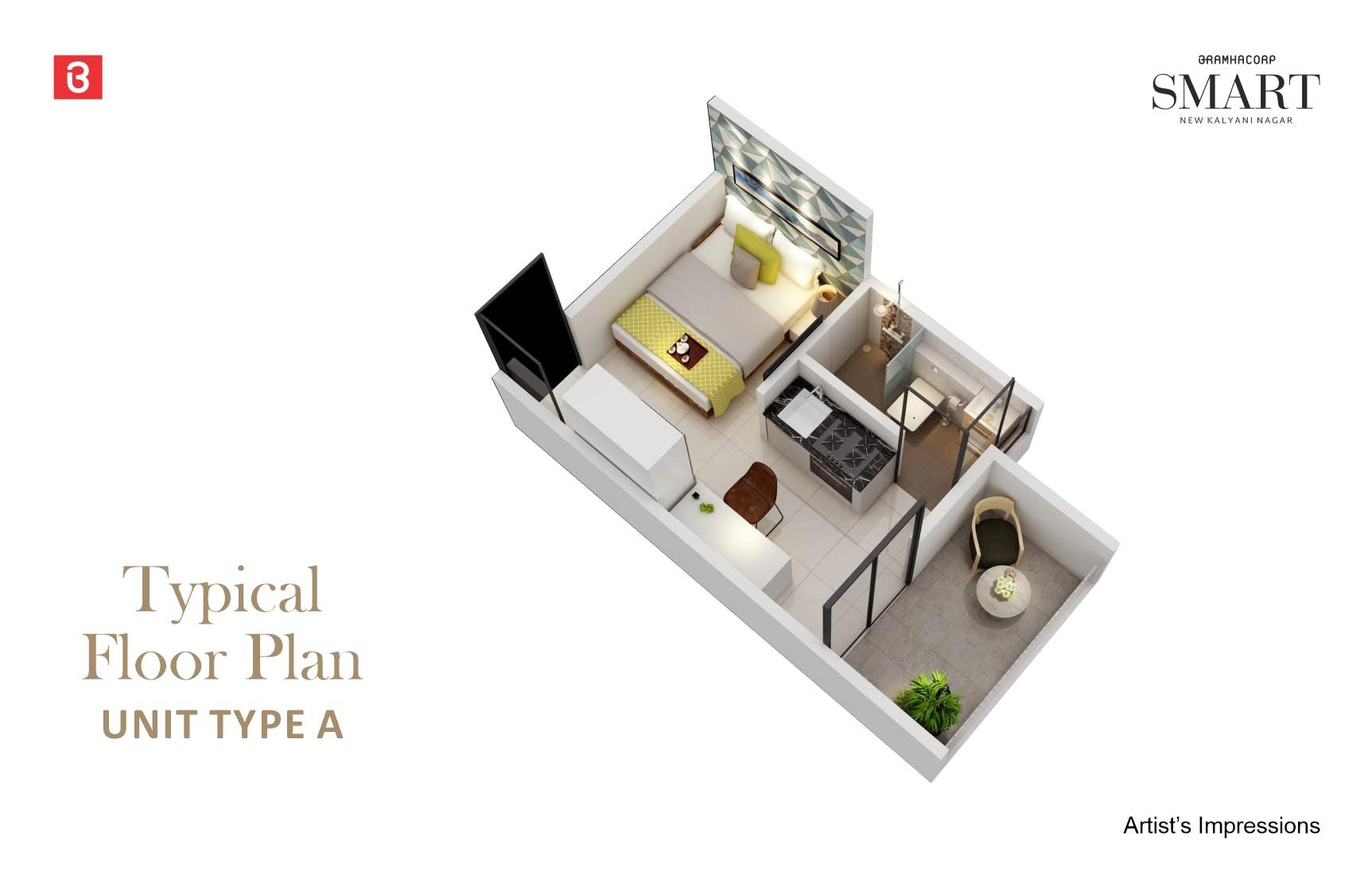 Studio Type A Floor Plan