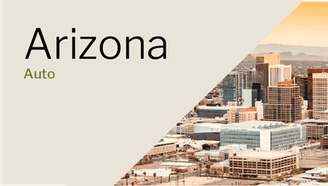 Arizona city skyline on a sunny day