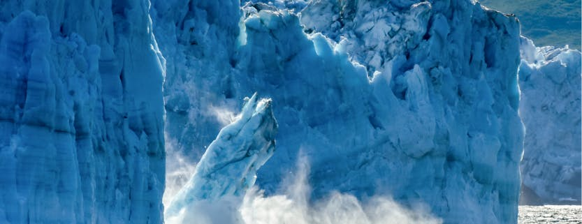 Decorative: Falling glacier